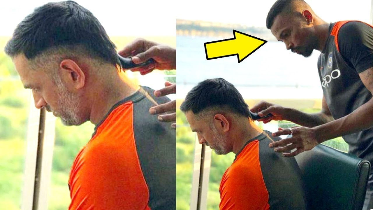 Hardik Pandya's Special Haircut To MS Dhoni For India vs ...