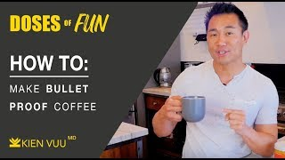 How to make Butter Coffee/Bullet Proof Coffee | KIENVUUMD