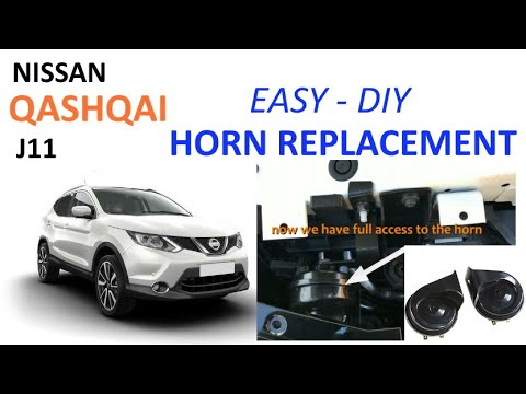 Nissan Qashqai J11 horn replacement  tutorial  YouTube