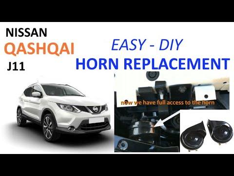 Nissan Qashqai J11 horn replacement  tutorial  YouTube