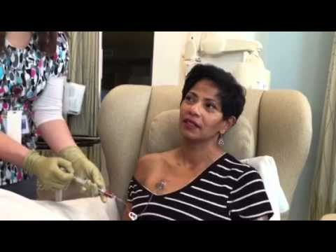 Breast Cancer: First Chemo A/C cycle one 12/30/14 using port