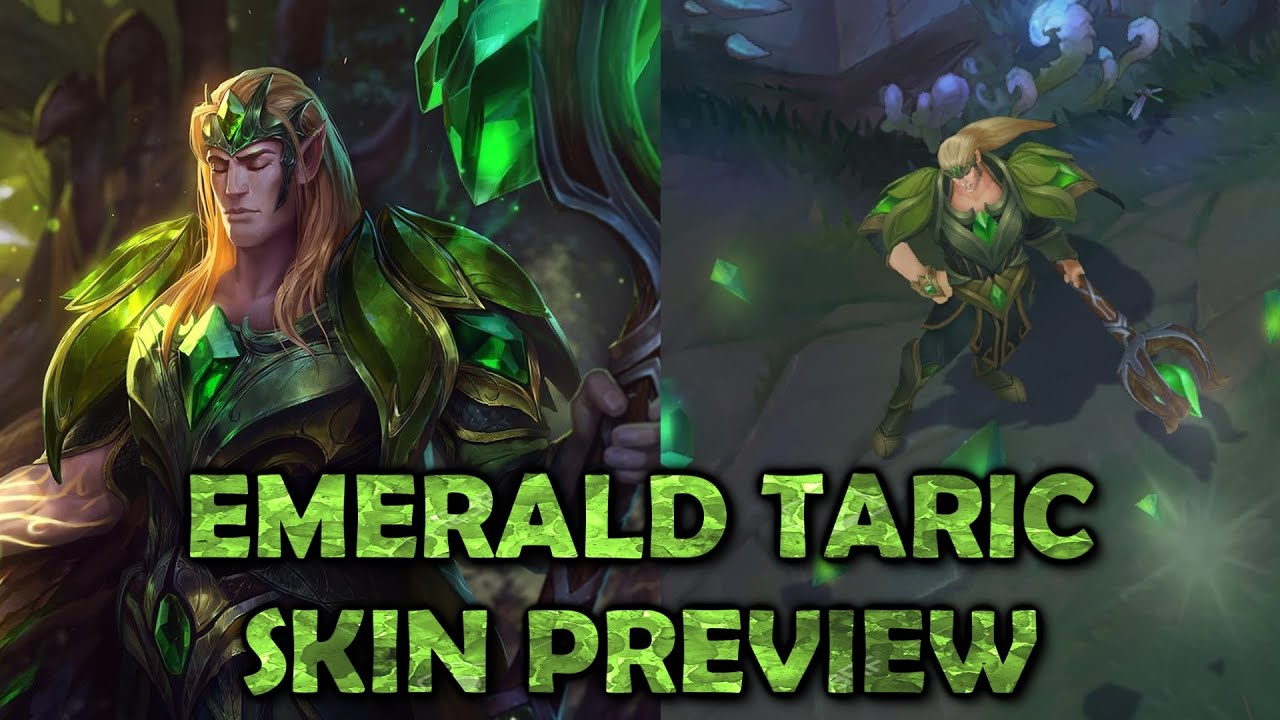 Emerald Taric - Skin Preview - League of Legends - YouTube