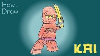 How to Draw Kai from LEGO Ninjago