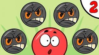 Несносный КРАСНЫЙ ШАРИК против чёрного квадрата и злого шара #2. МУЛЬТИК Red Pink Ball на Игрули TV