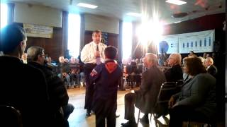 Gov. Christie Talks Security With Young Constituent In Hasbrouck Heights
