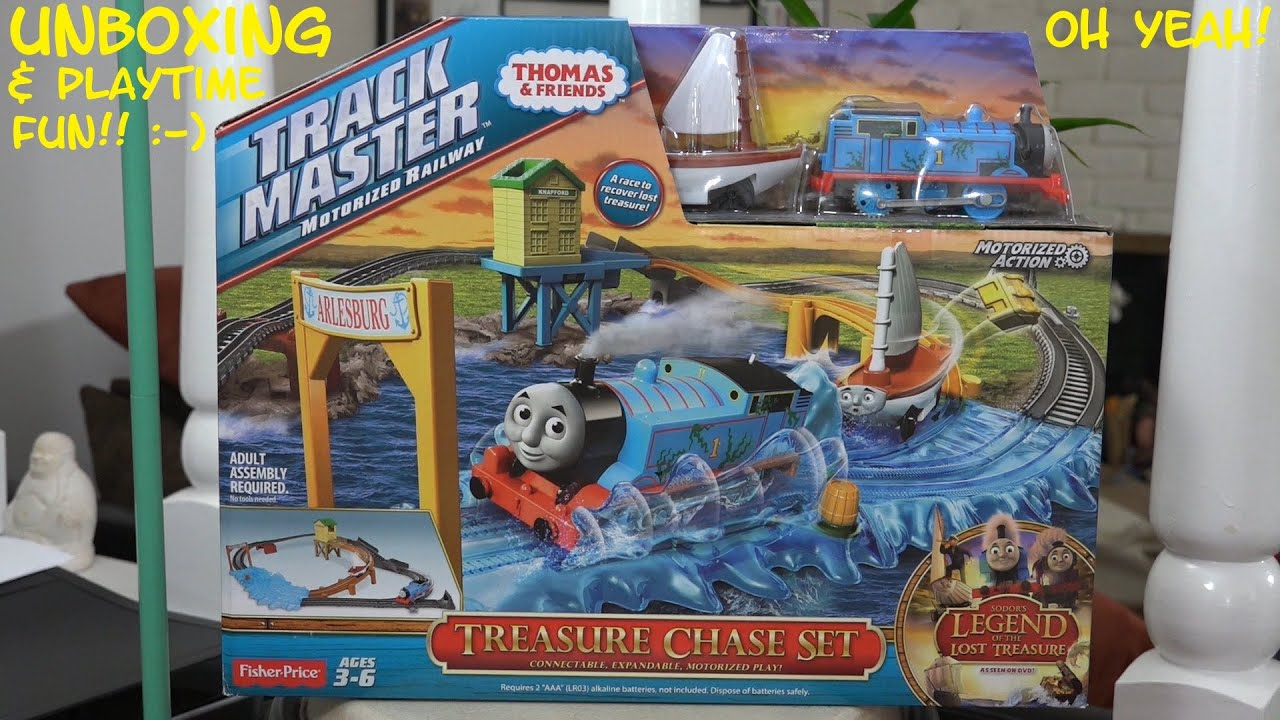 Fisher price thomas amp friends trackmaster treasure chase set new - Thomas Friends Trackmaster Treasure Chase Set Sodor S Legend Of The Lost Treasure Youtube