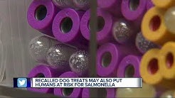 Recalled dog food and treats could give humans salmonella