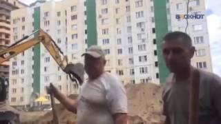Жители Воронежа устроили войну с ДСК из за деревьев