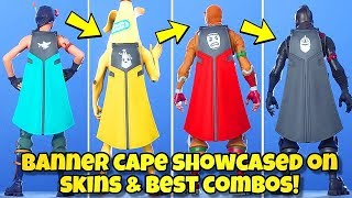 "NEW ""BANNER CAPE"" BACK BLING Showcased With 170+ SKINS! Fortnite BR (BEST BANNER CAPE COMBOS)"