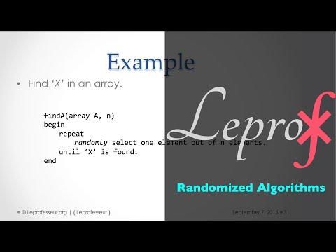 Algorithms } 006 } Randomized algorithms }