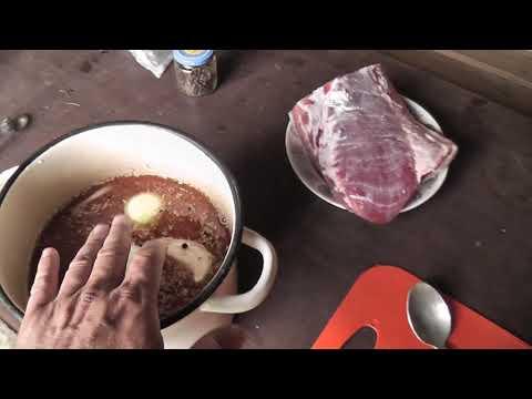 Рецепт маринования мяса для холодного копчения.