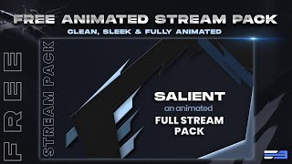 FREE! Full Clean Animated Stream Pack - Salient Ed