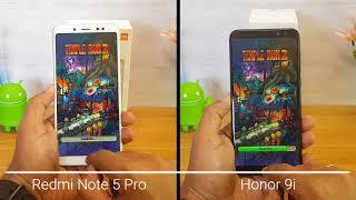 Xiaomi Redmi Note 5 Pro vs Honor 9i Speedtest Comparison