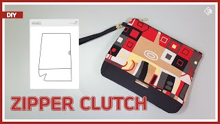 DIY/ ZIPPER CLUTCH BAG WITH WR…