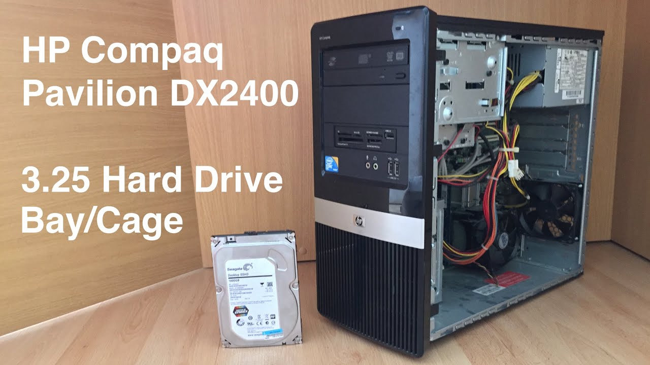 How To Remove The Hard Drive Cage In Hp Dx2400 Tutorial