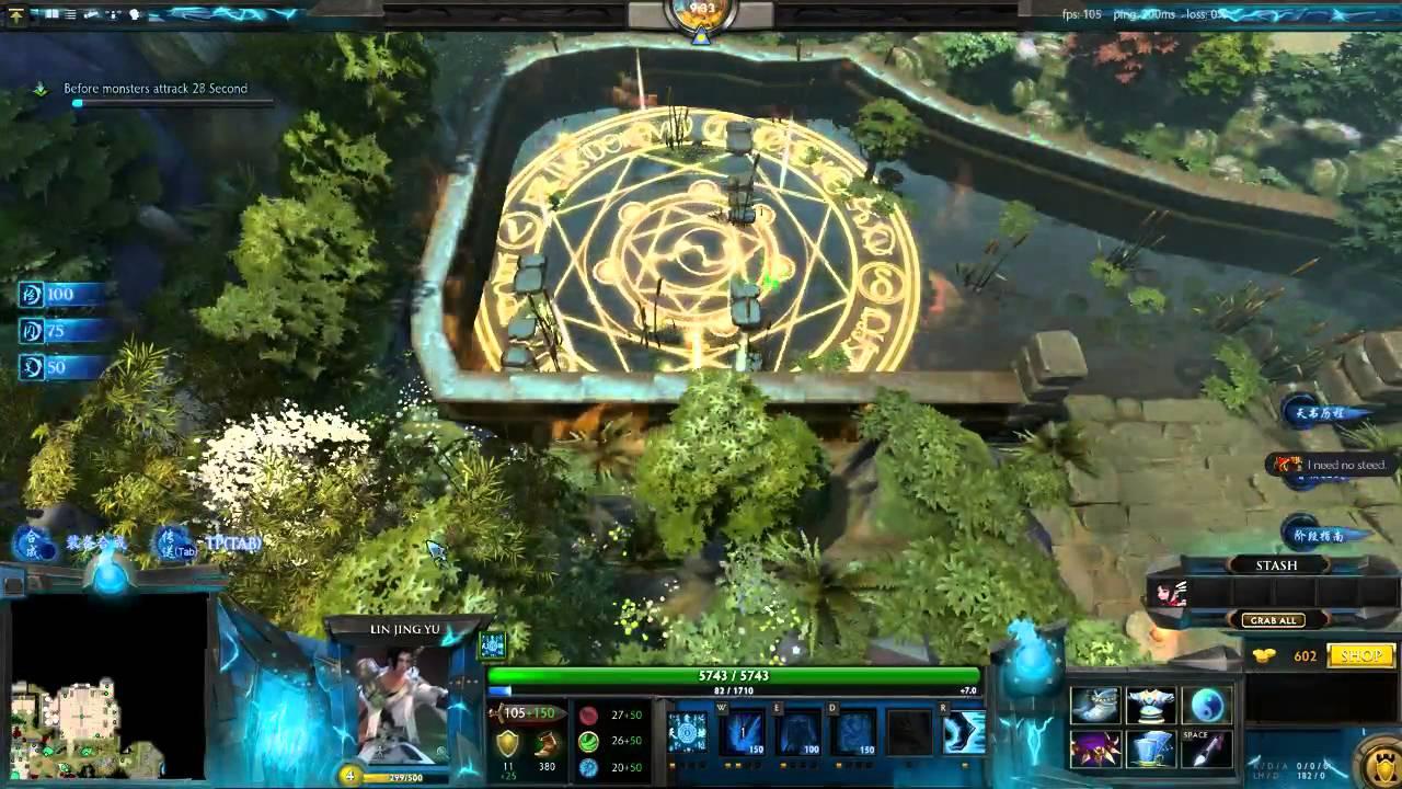 zhu xian v0 0 2 eng version custom map dota 2 part 1 youtube