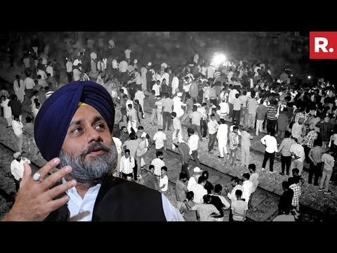Sukhbir Singh Badal Visits Accident Site, Speaks To Media About #AmritsarTrainAccident
