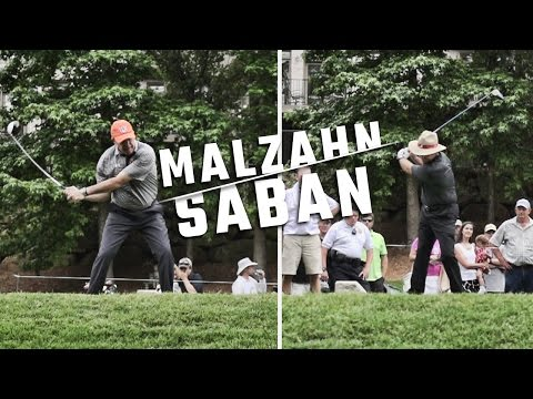 Whose swing is better, Nick Saban or Gus Malzahn?