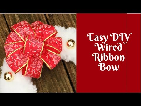 How to make a bow wired ribbon