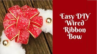 In this video, I'll show you how to make an easy DIY wired ribbon b...