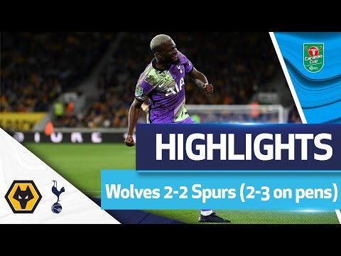 Penalty shootout DRAMA in Molineux |  HIGHLIGHTS |  Wolves 2-2 Spurs (2-3)