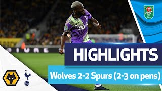 Penalty shootout DRAMA at Molineux | HIGHLIGHTS | Wolves 2-2 Spurs (2-3)