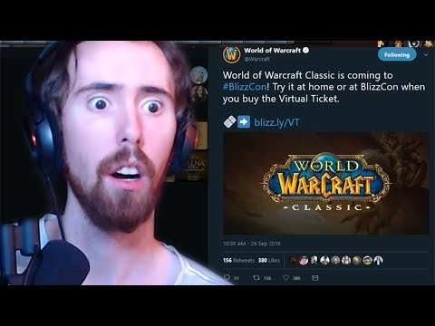 Asmongold Reacts To WoW Classic News & Blizzcon 2018