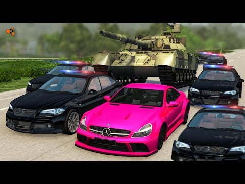 Beamng drive - Police Chases vs Sports Cars crashes #9
