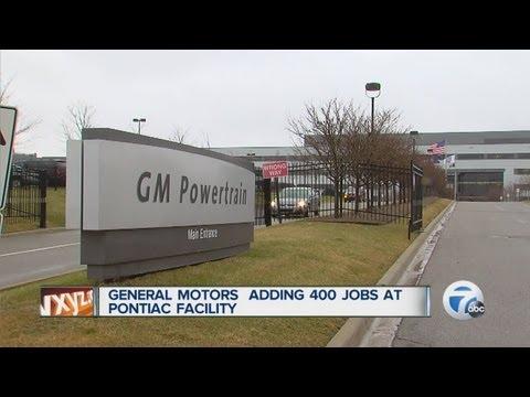 General Motors adding 400 jobs at Pontiac facility
