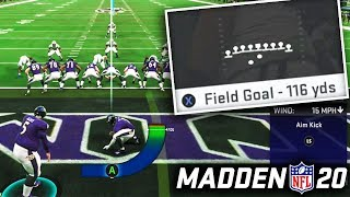 What's The Longest Possible Field Goal You Can Make in Madden 20?