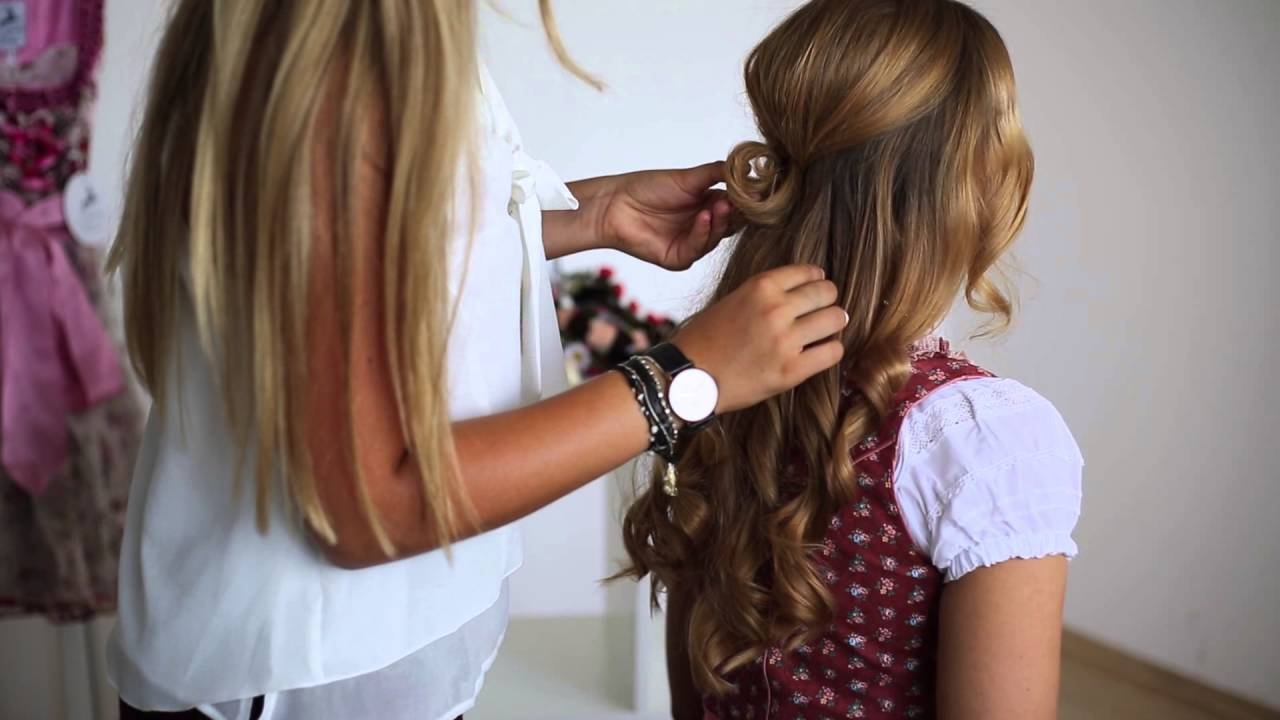 Stylische Dirndl Frisuren Tutorial 2 Von Ludwig Therese Youtube
