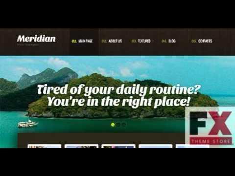 Preview White Black Travel Agency WordPress Theme By Mira TM