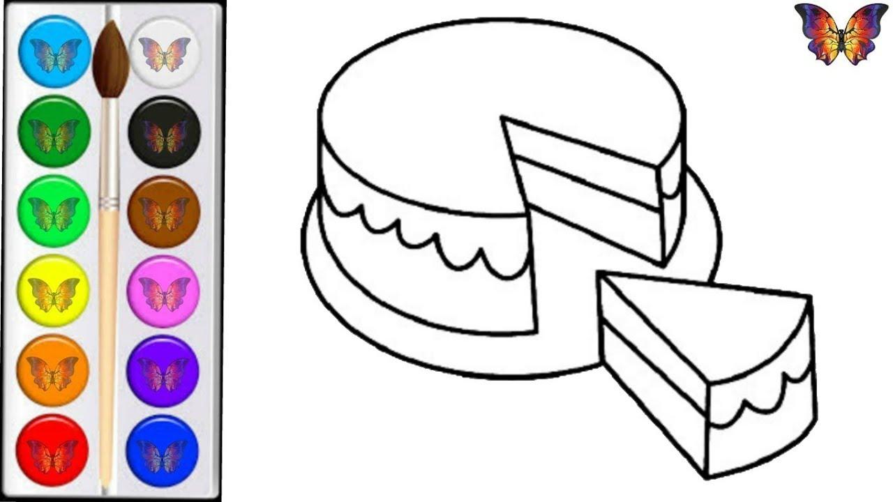 Как нарисовать ТОРТ / мультик раскраска ТОРТ для детей ...