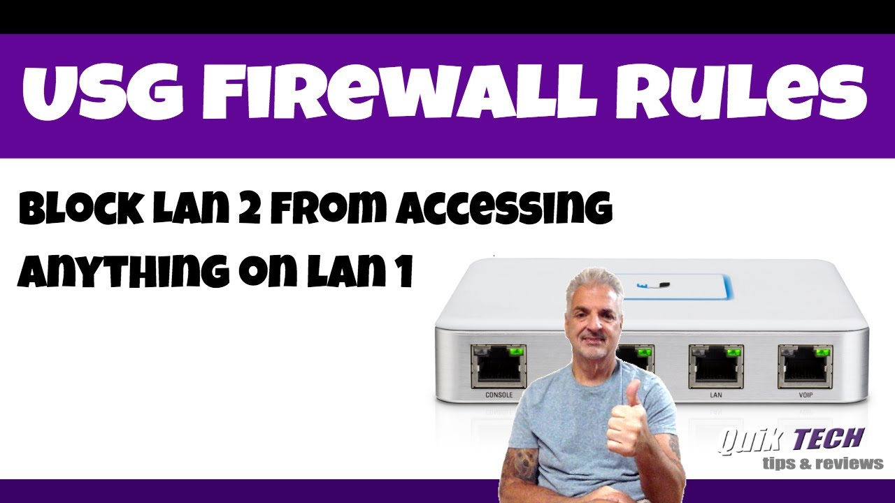 USG Firewall Rules