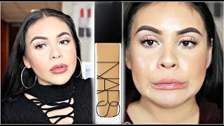 NEW NARS NATURAL RADIANT LONGWEAR FOUNDATION: REVIEW, DEMO + 10 HOUR WEAR TEST | JuicyJas