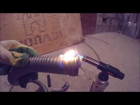 Как загорается металлорукав для кабеля шок