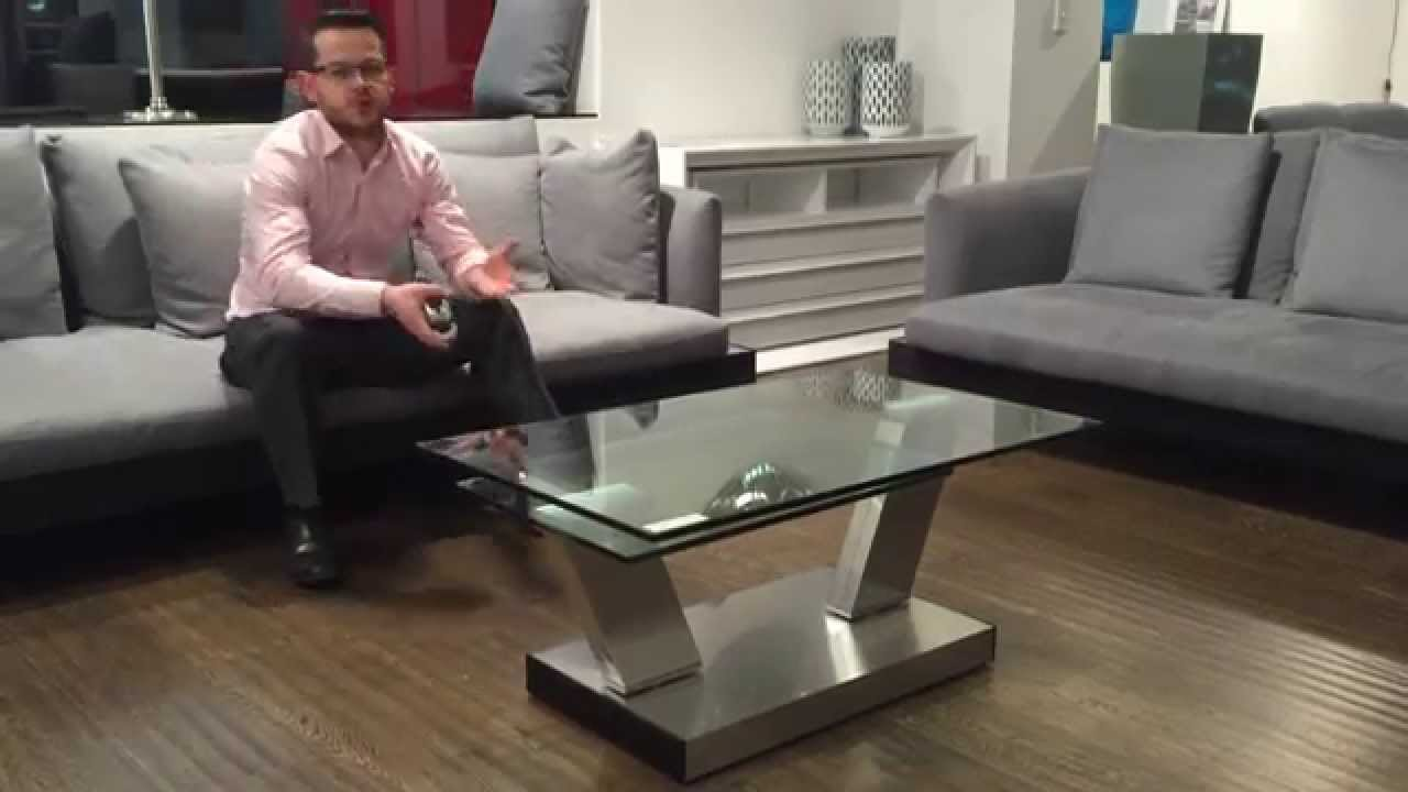 g8140 swivel glass coffee table gainsville furniture youtube