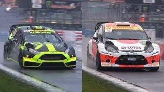Valentino Rossi Vs. Robert Kubica - 2014 Monza Rally Master Show