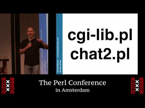 """""""20 years of Perl"""" - brian d foy"""