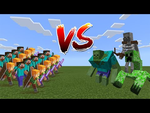 100 Players Vs Mutant Creatures - Minecraft