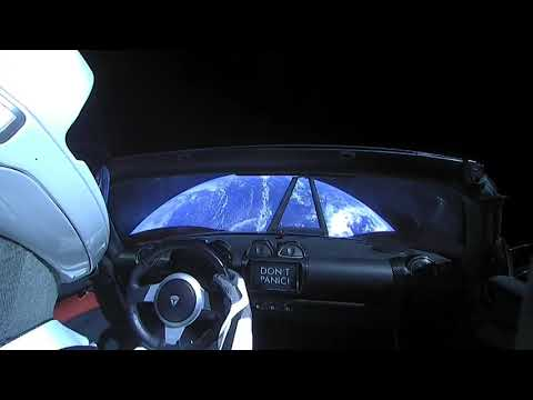 Starman on his journey to Mars