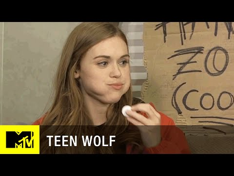 Teen Wolf Season 5  Holland Roden Stuffs Her Mouth w Marshmallows  MTV
