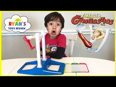 Thumbnail: Fantastic Gymnastic Challenge! Family Fun Games for Kids! Egg Surprise Toys Extreme Warhead Candy