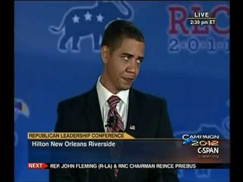 Obama Impersonator at Republican Leadership Conference