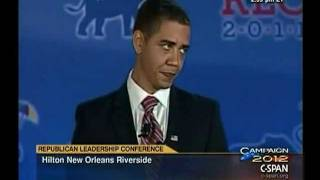 Obama Impersonator at Republican Leadership Conference thumbnail