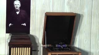 Edison blue amberol cylinder 1878 - Jolly Fellows Waltz by Sousa