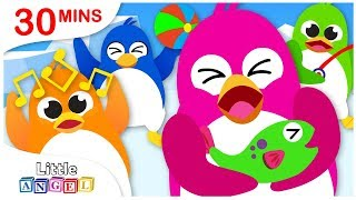 5 Little Penguins, Apples & Bananas, No No Safety Tips, Princess Nursery Rhymes by Little Angel