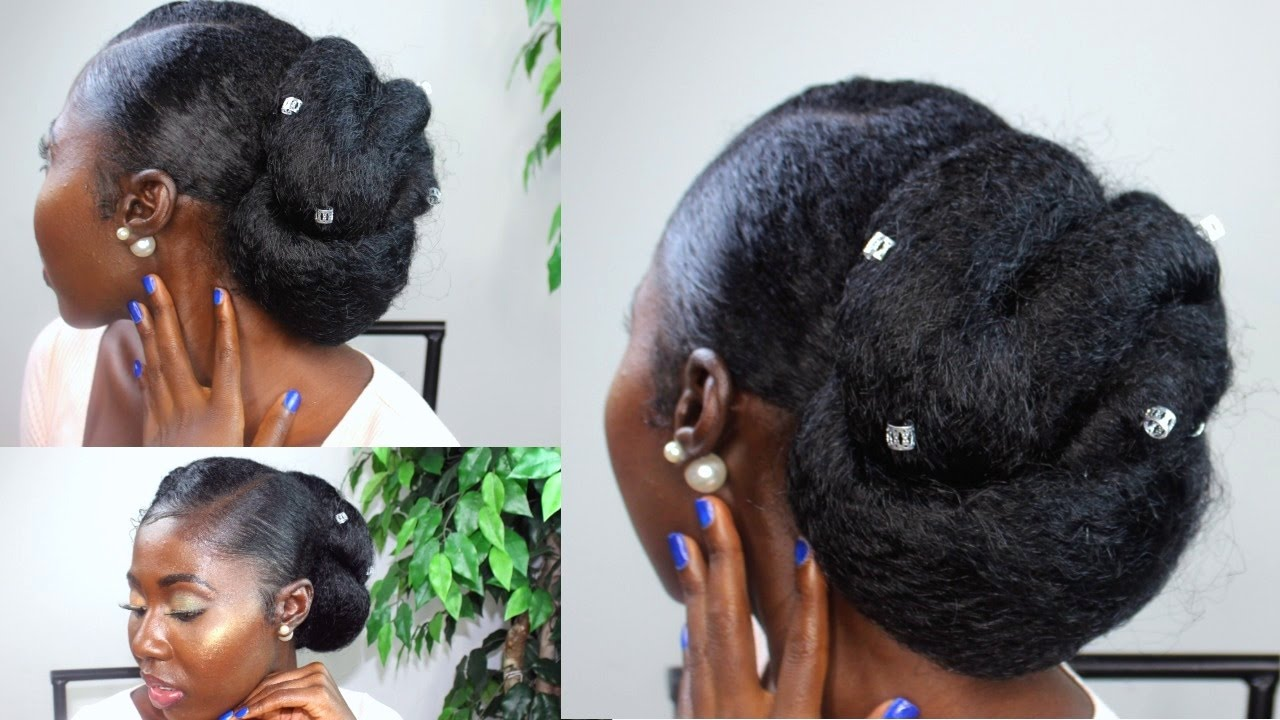 protective natural hair styles |bridal inspired|