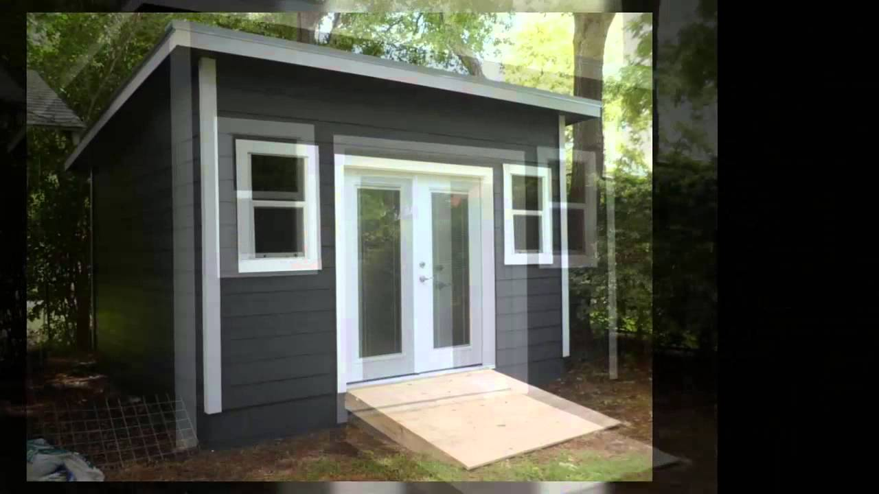 Single pitch sheds from sheds and more austin youtube for How to build a sloped roof shed