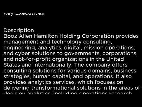 BAH Booz Allen Hamilton Holding Corporation BAH buy or sell Buffett read basic
